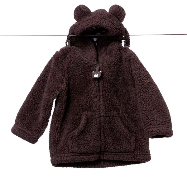 Carter's Brown Jacket with Bear Ears, Size 6 months