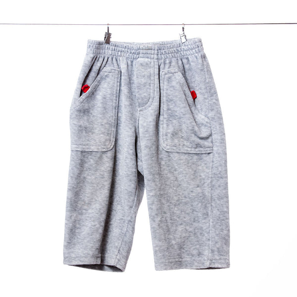 Boys Gray Sweat Pants with Pockets, Size 12 Months
