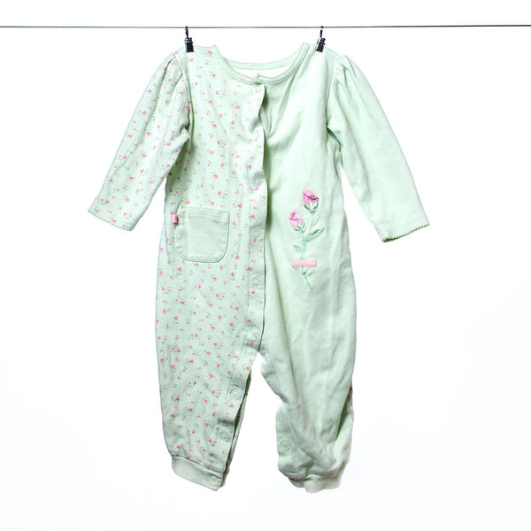 Carter's Girls Pastel Green and Pink One-Piece, Size 18 months