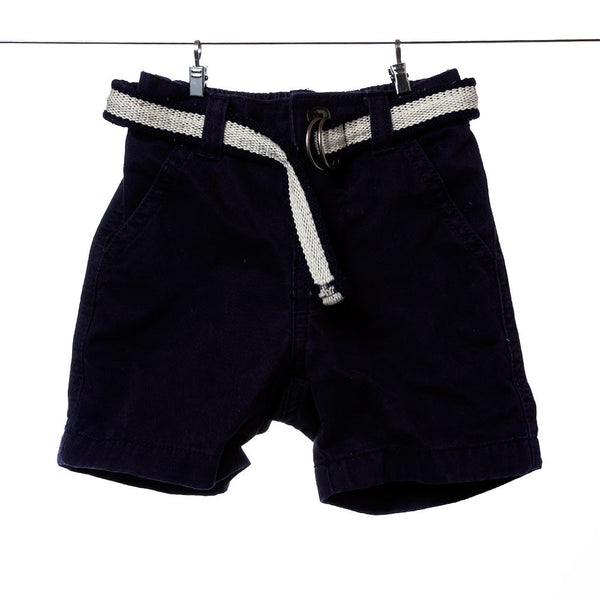 Gymboree Boys Navy Blue Shorts with Belt, Size 6-12 Months