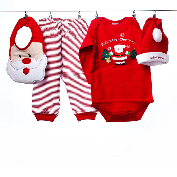 "Baby Essentials ""Baby's First Christmas"" 3-Piece Outfit, Size 6-9 months"