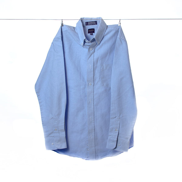 Arrow Boys Denim-Colored Blue Button-Down Dress Shirt, Size 16