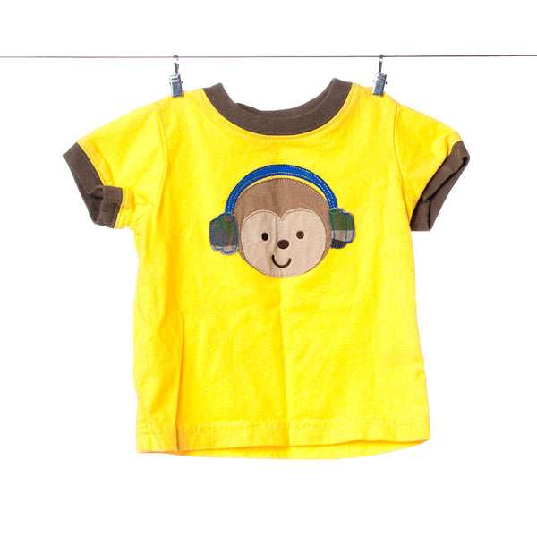 Child of Mine by Carter's Boys Yellow Monkey Tee, Size 6-9 Months