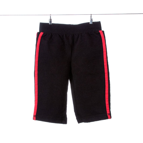 Disney Boys Black Sweats with Red Stripes, Size 12 Months