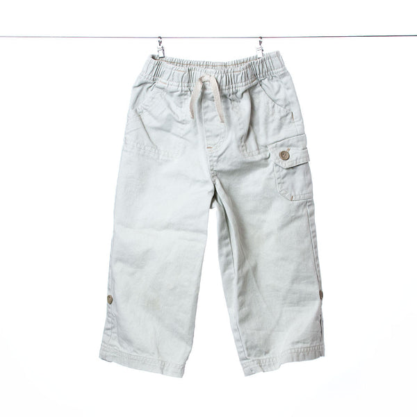 Faded Glory Boys Khaki Cargos with Drawstring, Size 24 Months