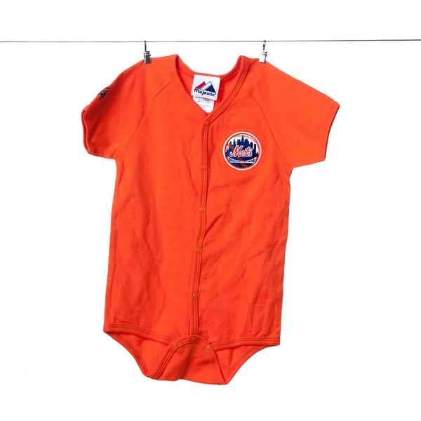 Genuine Mets Team Gear Majestic Orange Onesie Team Gear, 24 months