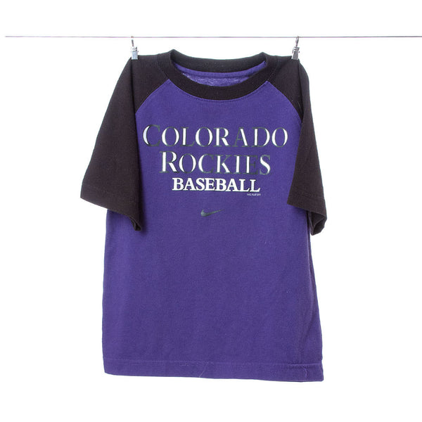 Nike Purple and Black Colorado Rockies Team Gear Tee, Size 4