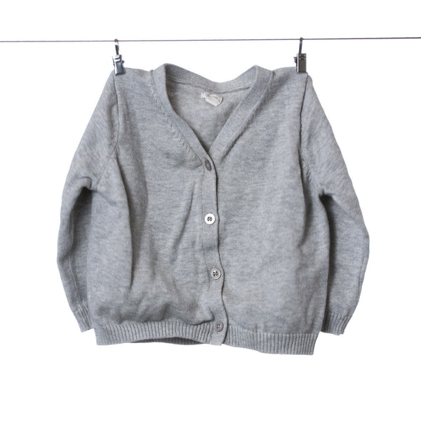 Baby Gap Light Grey Button Up Sweater, Size 6-12 Months