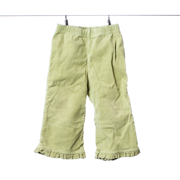 The Children's Place Light Green Corduroy Stretch Pants for Girls, Size 18 Months