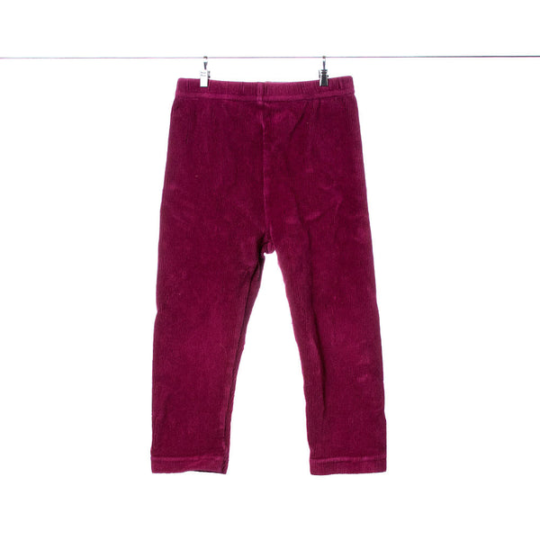 Gymboree Girls Maroon Corduroy Leggings, Size 18-24 Months