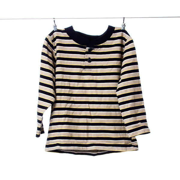 b.t. Kids Black and Yellow Striped Long Sleeve Size 18 Months