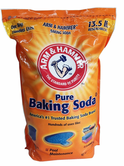 ARM & HAMMER Pure Baking Soda Powder Resealable Bag 13.5 LB