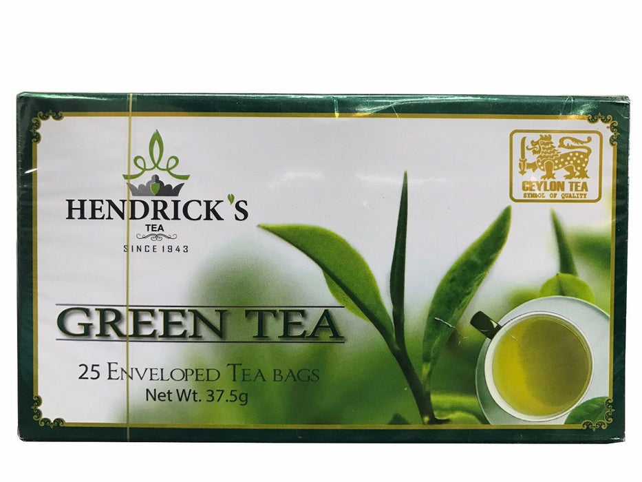 Ceylon Green Tea Hendrick's Green Tea Bags 37.5g - 25 Enveloped Tea Bags