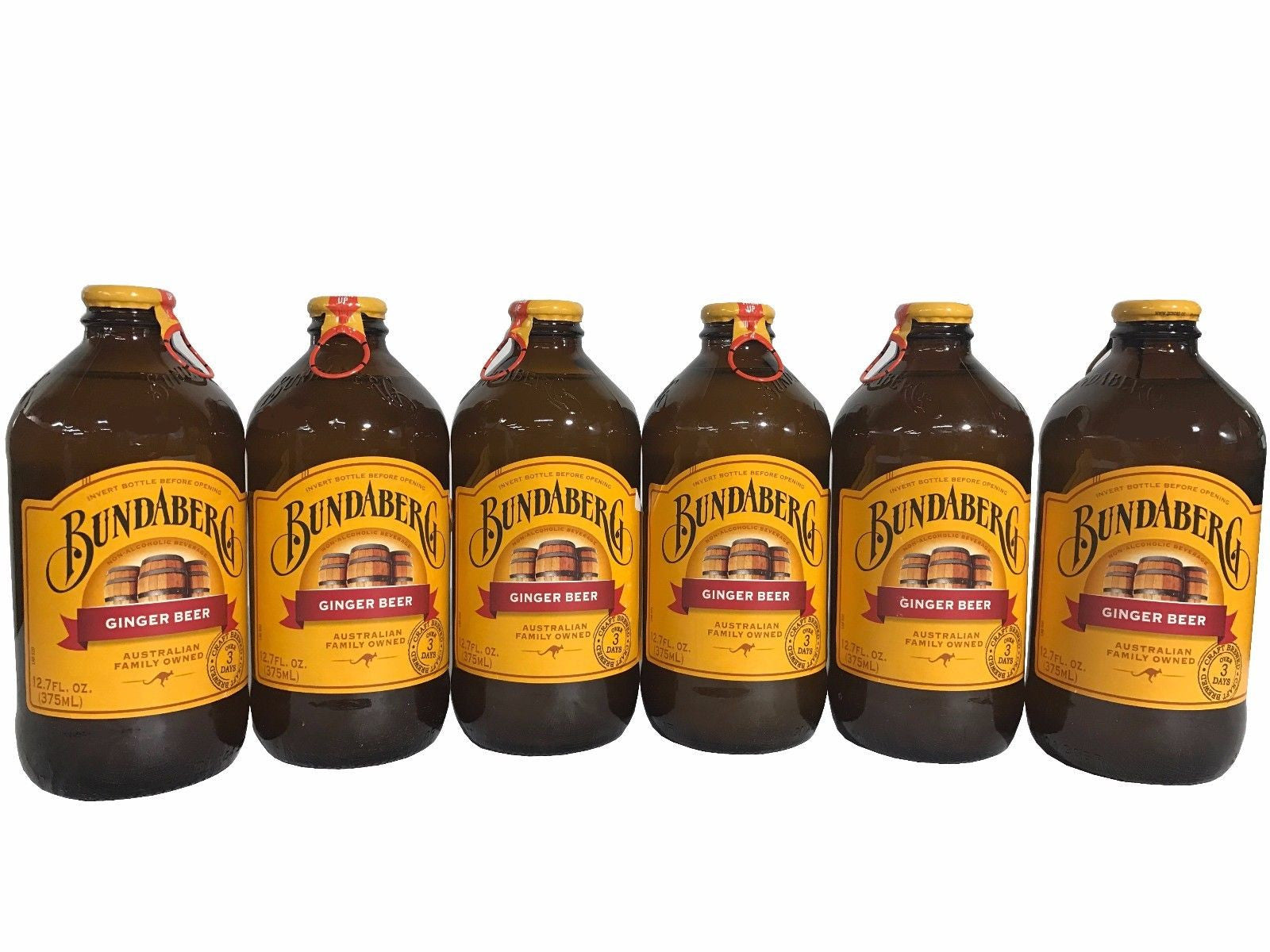 Bundaberg Ginger Beer Australian Craft Brewed Over 3 Days Non Alcoholic - 6 Pack