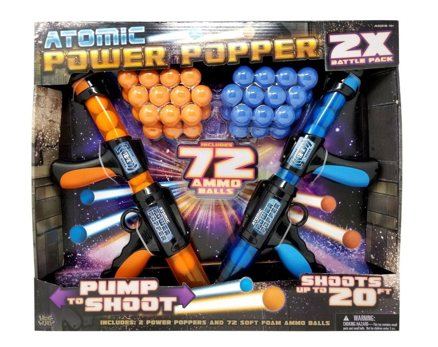Hog Wild Atomic Power Poppers 2X Battle Pack with 72 Ammo Balls
