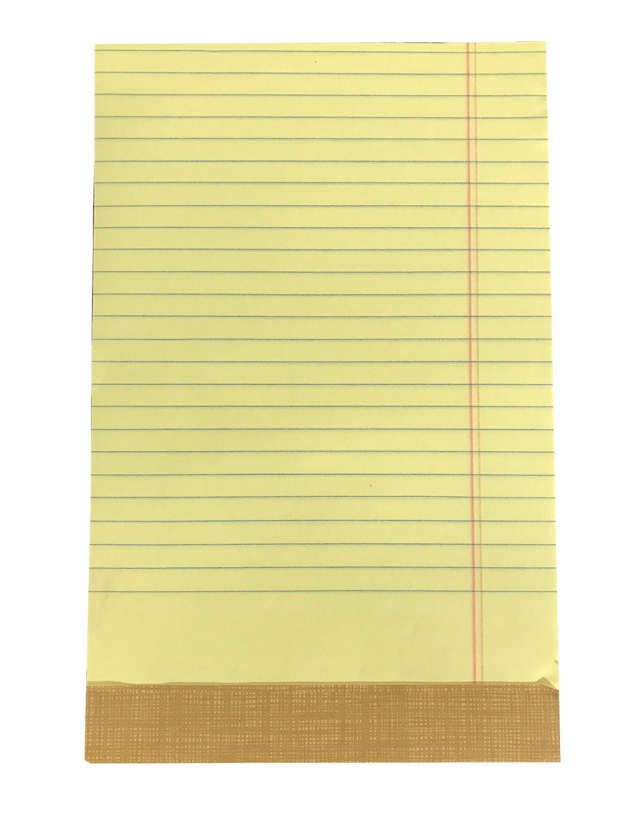 "Tops 50 Sheet Writing Pad Junior Size 5"" x 8"" Canary 12 Pads"