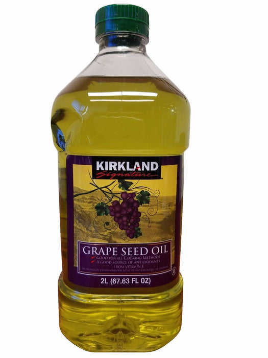 Kirkland Signature Grapeseed Oil with Antioxidants 2 L (67.63 fl oz)