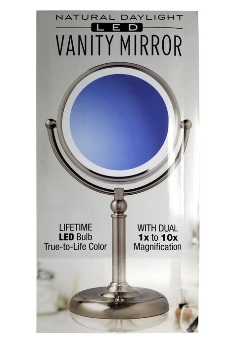Sunter Natural Daylight LED Vanity Mirror with Dual Magnification