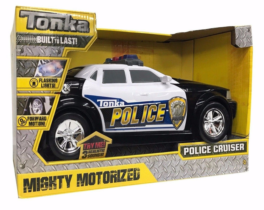 Tonka Built To Last Mighty Motorized Police Cruiser with Forward Motion & Lights