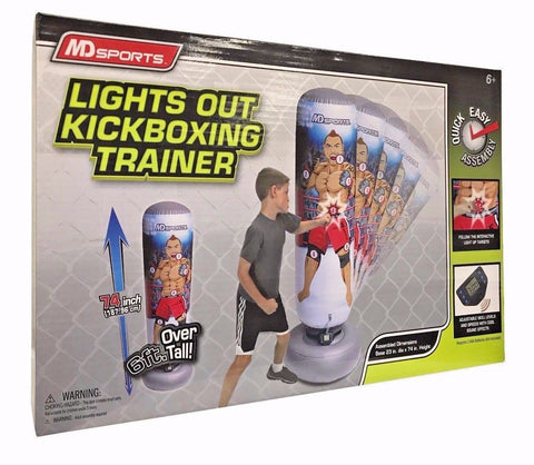 MD Sports Lights Out Kickboxing Trainer 6',Adjustable Skill Levels,Sound Effects