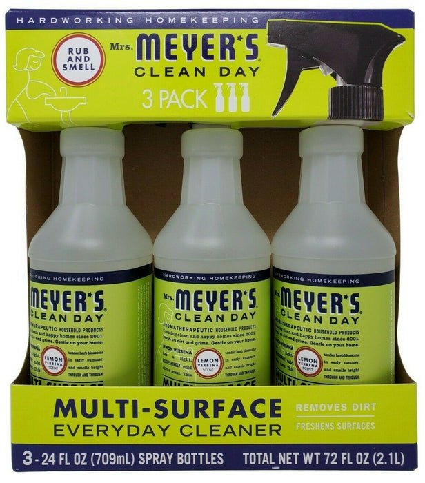 Mrs. Meyer's Clean Day Multi Surface Everyday Cleaner Net 72 FL OZ - 3 Pack