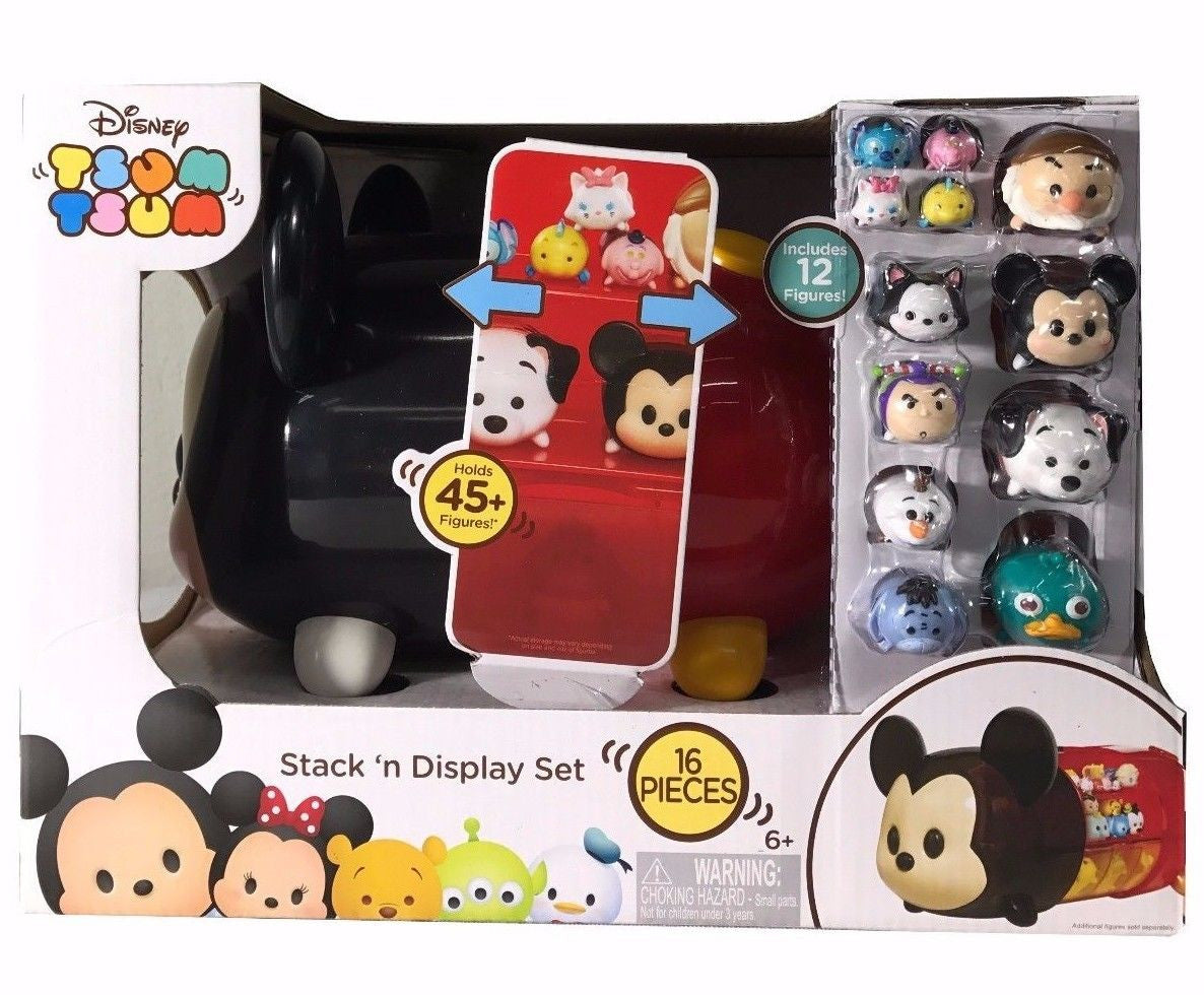 Disney Tsum Tsum Stack 'n Display Set, Holds 45+ Figures - Includes 12 Figures