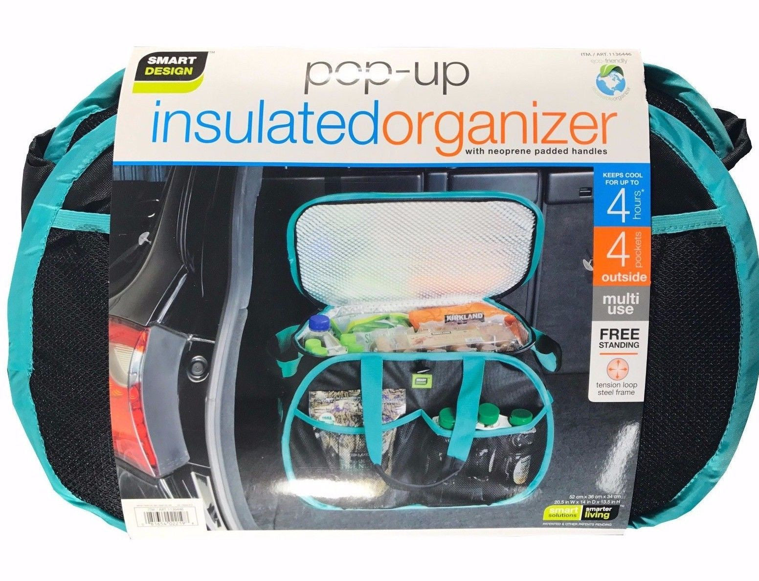 Smart Design Pop Up Insulated Organizer With Neoprene Padded Handles