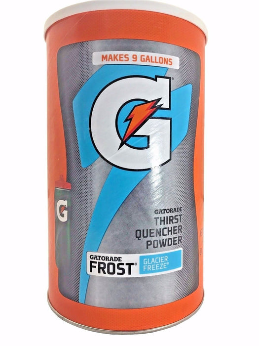 Gatorade Thirst Quencher Powder Frost Glacier Freeze Makes 9 Gallons 4LB 12OZ