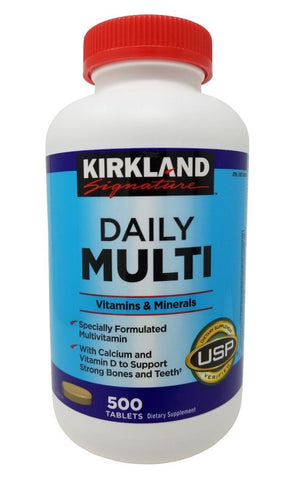 Kirkland Signature Daily Multi Vitamins & Minerals 500 Tablets