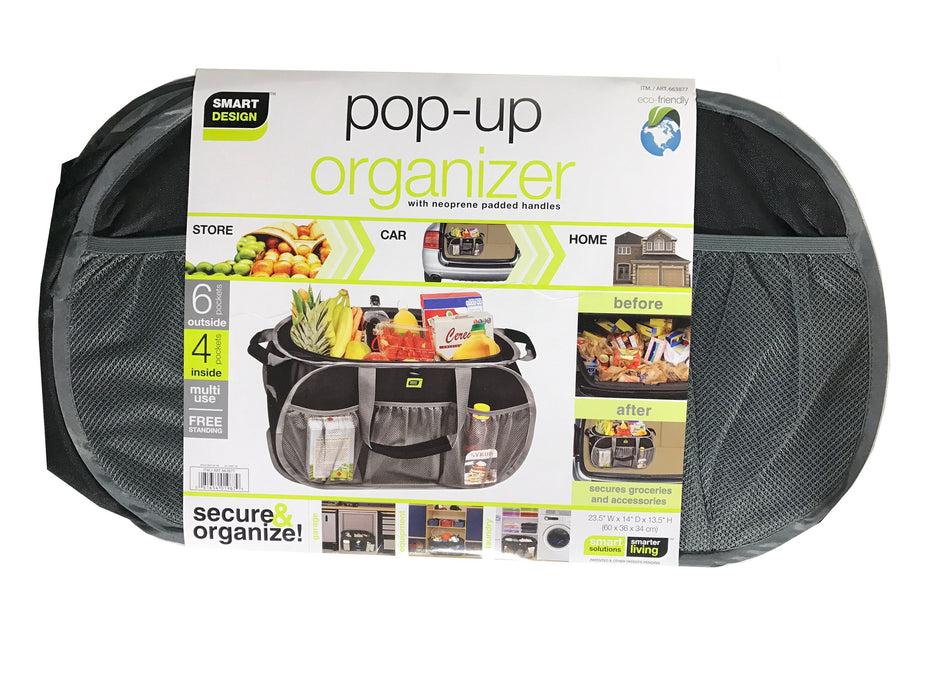 "Pop Up Organizer with Neoprene Padded Handles 23.5x14x13.5"" [Grey]"