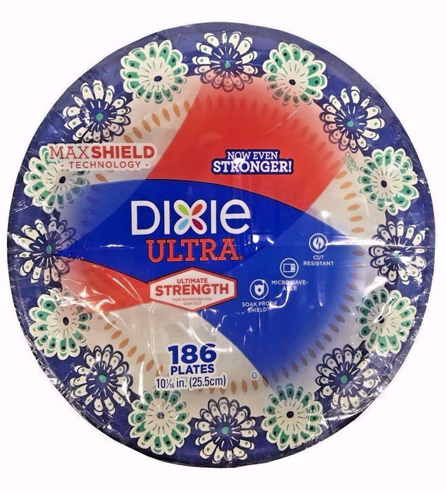Dixie Ultra Ultimate Strength with Max Shield Technology 186 Paper Plates