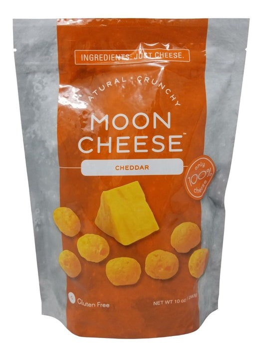 Moon Cheese Cheddar Crunchy, 100% Natural, Gluten Free 10 OZ