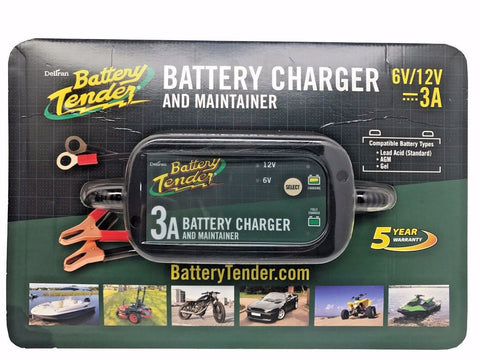 Deltran Battery Tender 3A Battery Charger & Maintainer 6v/12v