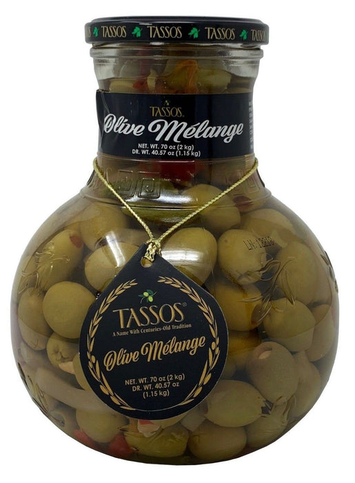 Tassos Olive Melange from the Mediterranean Net Weight 70 OZ