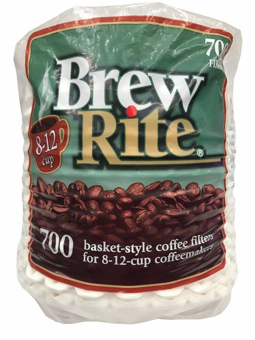 "Brew Rite 700 Basket-Style Coffee Filters 3.25"" base for 8-12 Cup Coffeemakers"