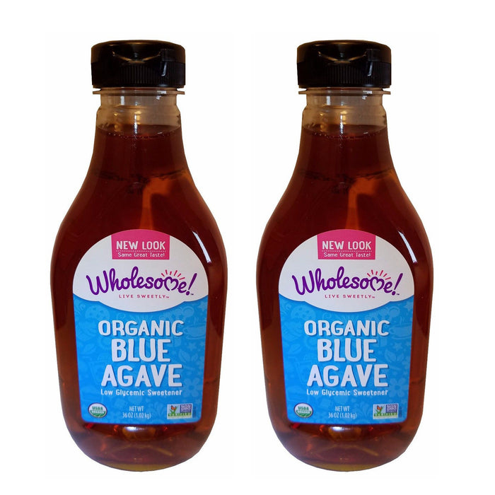 Wholesome Organic Blue Agave Low Glycemic Sweetener 36 oz 1-2 Bottles