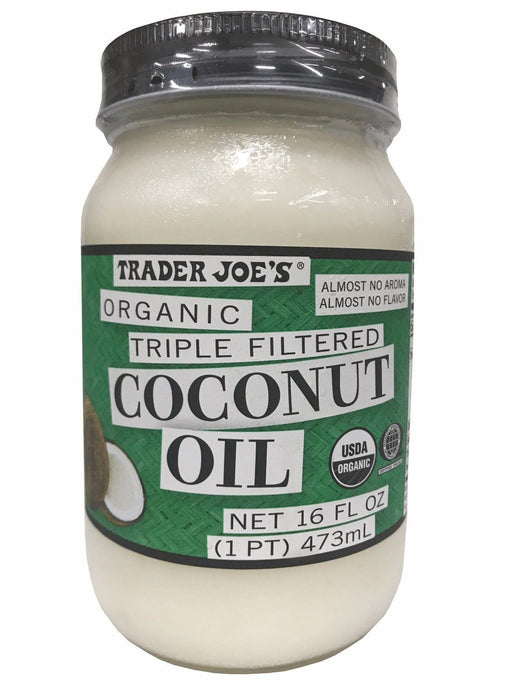 Trader Joe's Organic Triple Filtered Coconut Oil 16 FL OZ