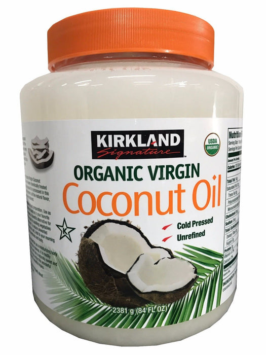 Kirkland Organic Virgin Coconut Oil Unrefined Cold Pressed Chemical Free 84 oz