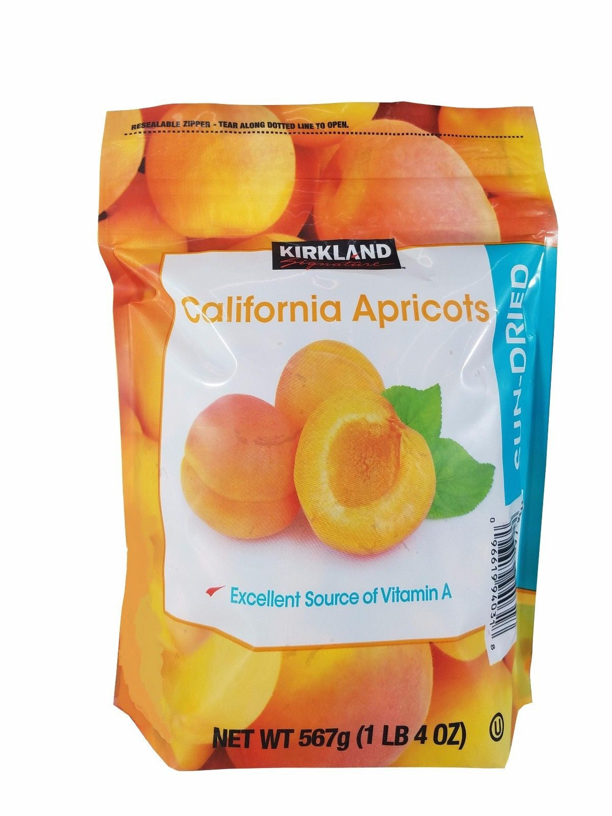 Kirkland Signature California Apricots Sun Dried Fruit 1 LB 4 OZ