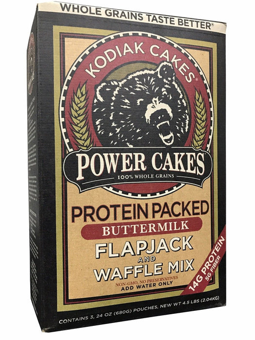Kodiak Cakes Power Cakes Protein Packed Butter Milk Flapjack & Waffle Mix 4.5 LB