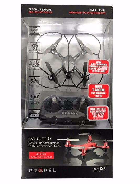 Propel 2.4 Ghz Indoor/Outdoor High Performance Dart 1.0 Drone - Chrome