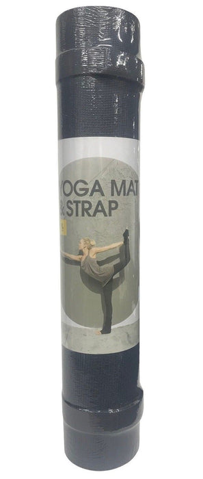 Lole Yoga Mat with Strap 6mm, Reversible - Black