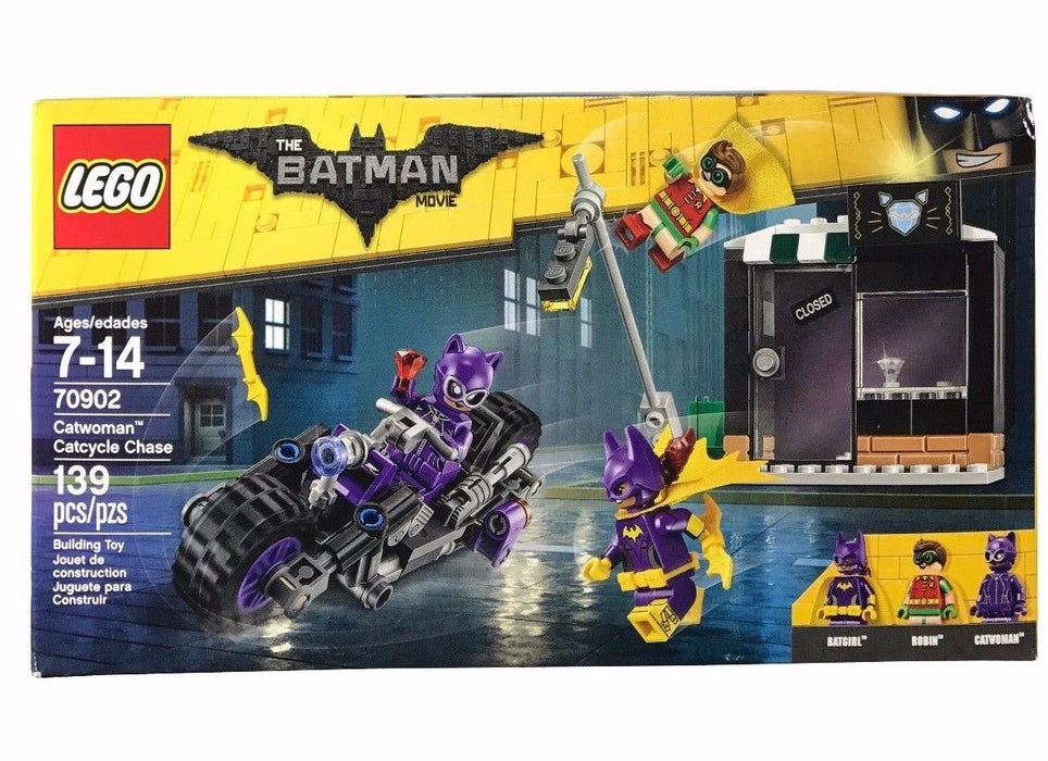 Lego The Batman Movie Catwoman Catcyle Chase 139Pc Building Toy Robin & Batgirl