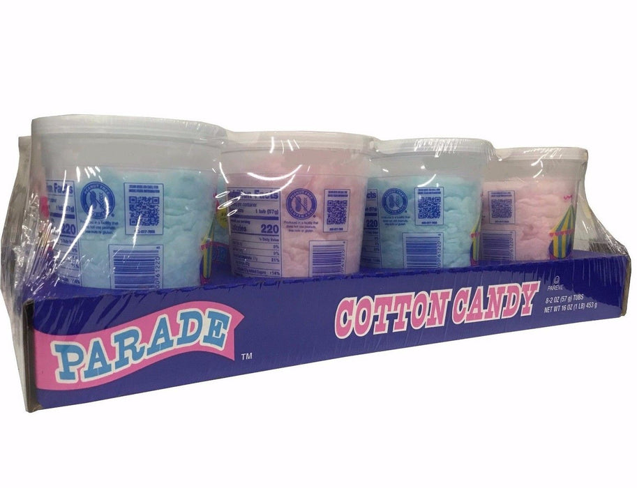 Parade Cotton Candy 2 OZ Each 8 Tubs