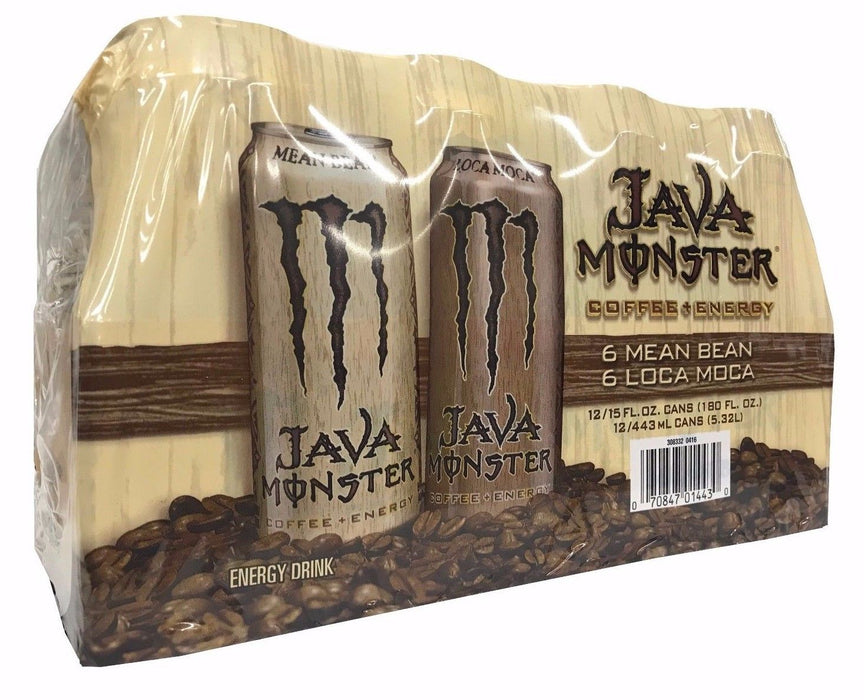 Monster Java Coffee + Energy Drink 6 Mean Bean 6 Loca Moca 15 FL OZ 12 Cans