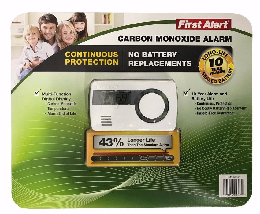 First Alert Carbon Monoxide Alarm - 10 Year Alarm and Battery Life