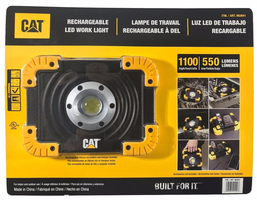 CAT  Rechargeable LED Work Light High 1100 & Low 550 Lumens