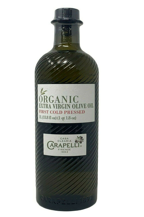 Carapelli Organic Extra Virgin Olive Oil First Cold Pressed 33.8 FL OZ