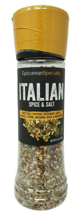 Epicurean Specialty Italian Spice & Salt with Grinder 4.5 OZ