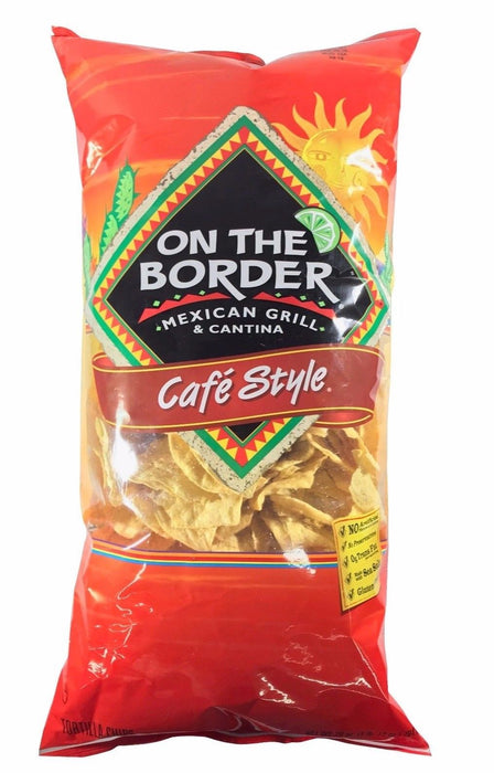 On The Border Mexican Grill & Cantina Cafe Style Tortilla Chips 28 OZ